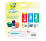 My First Washable Palm Grasp Crayons 6 count package and crayons