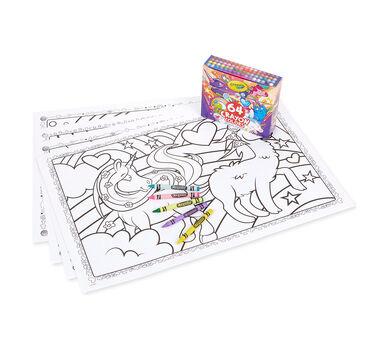 Crayola Uni-Creatures Coloring Bundle with Custom 64 ct. Crayons