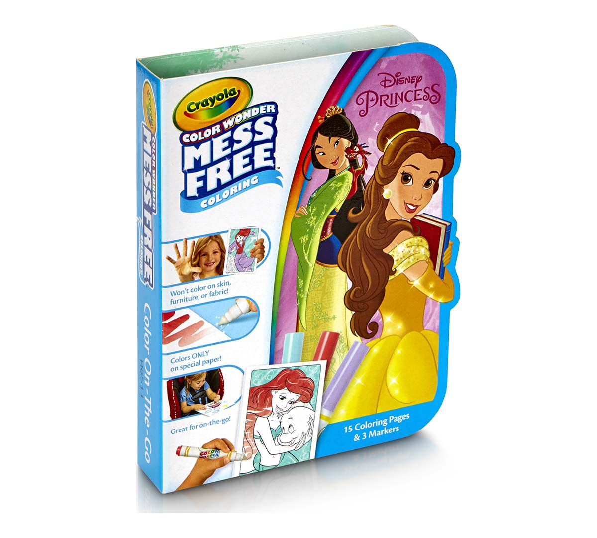 crayola disney princess color wonder on the go mess free coloring