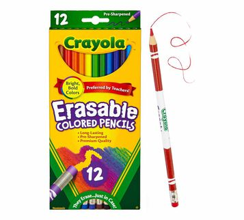 Erasable Colored Pencils, 12 Count Front View of Box