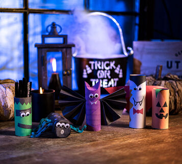 Halloween Cardboard Tubes Craft