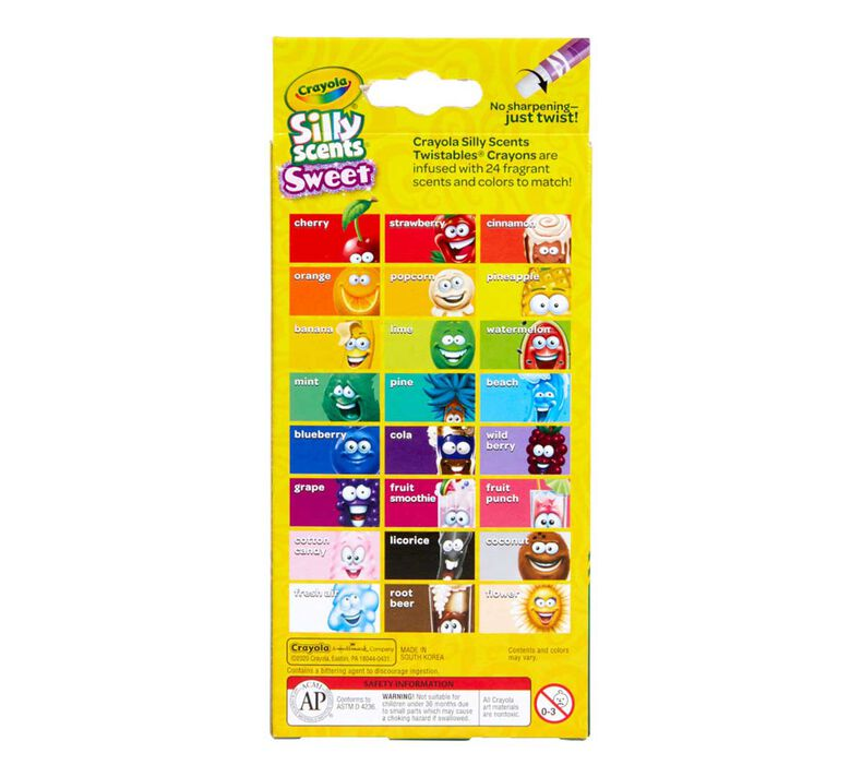 Silly Scents Mini Twistables Scented Crayons, 24 Count
