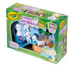 Scribble Scrubbie Pets Safari Tub Set Front View of Box