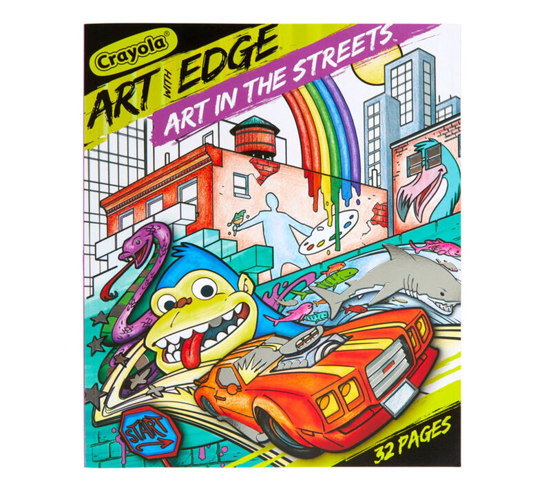 Art With Edge Coloring Book, Art in the Streets | Crayola.com | Crayola