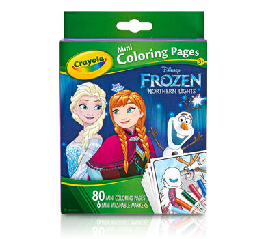 Frozen Mini Coloring Pages with Markers