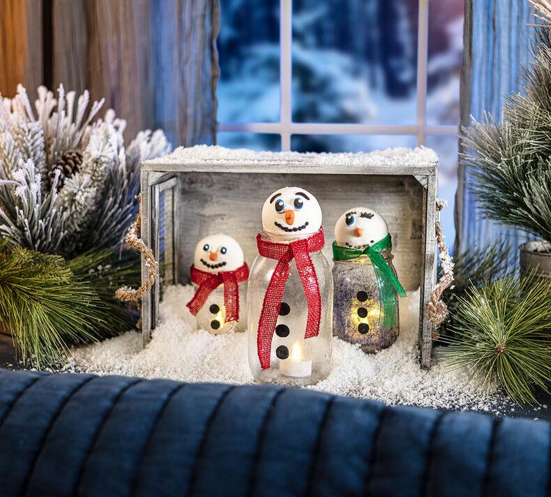 Snowman Lantern Craft Kit