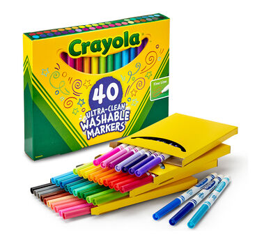 40 Count Ultra Clean Markers Fine Line Crayola