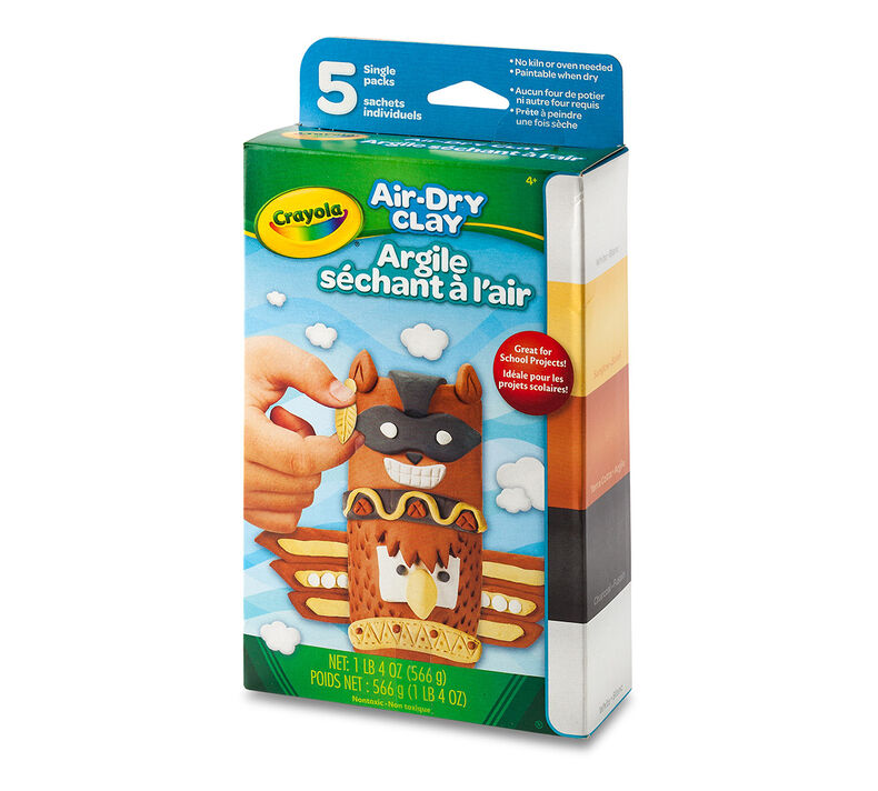 Air Dry Clay Variety Pack, 5 Count