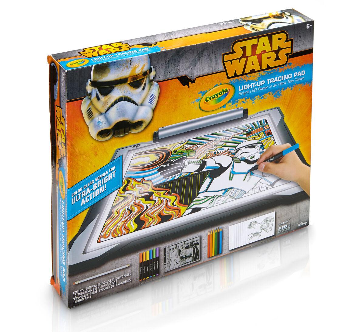 star wars light up tracing pad crayola