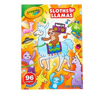Sloths Love Llamas Coloring Book, front view of package