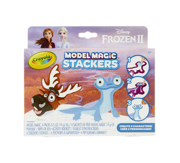 Model Magic Frozen 2 Stackers Craft Kit Sven & Fire Salamander, Front View
