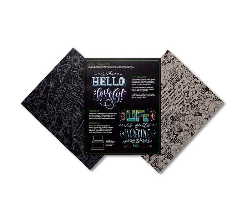 Signature Chalkboard Hand Lettering Inspiration Pad
