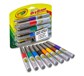 Dry Erase Visi Max markers 8 Ct package and marker display