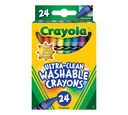 Crayola Ultra-Clean Crayons, 24 Count Front View of Box