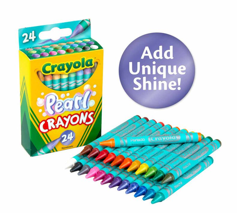 Pearl Crayons, 24 Count