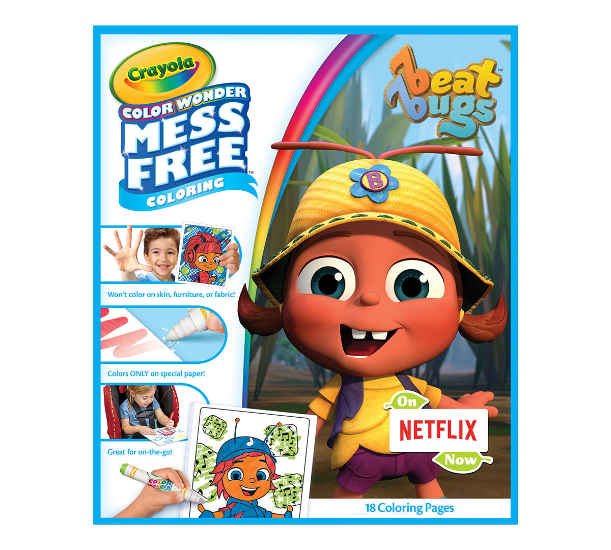 Color Wonder Mess Free Coloring Pad Markers Beat Bugs