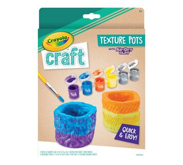 Crayola Craft Texture Pots Craft Kit Front View of Box