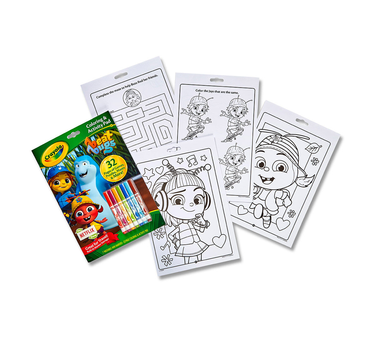 Coloring Activity Pad W Markers Beat Bugs