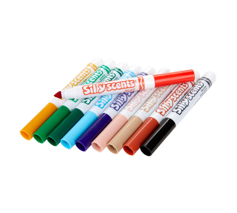 Silly Scents Stinky, Washable, Broad Line Markers, 10 Count