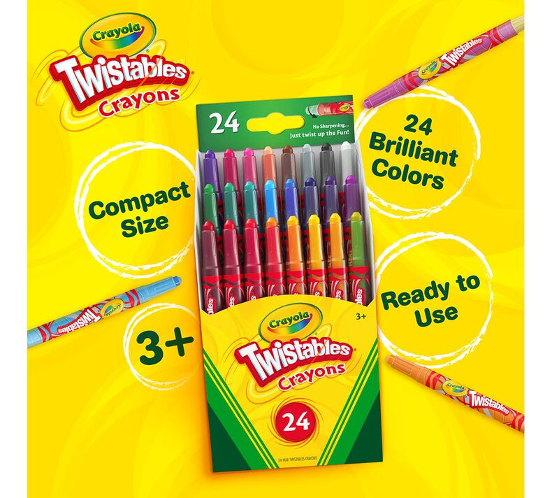 Mini Twistables Crayons, 24 Count