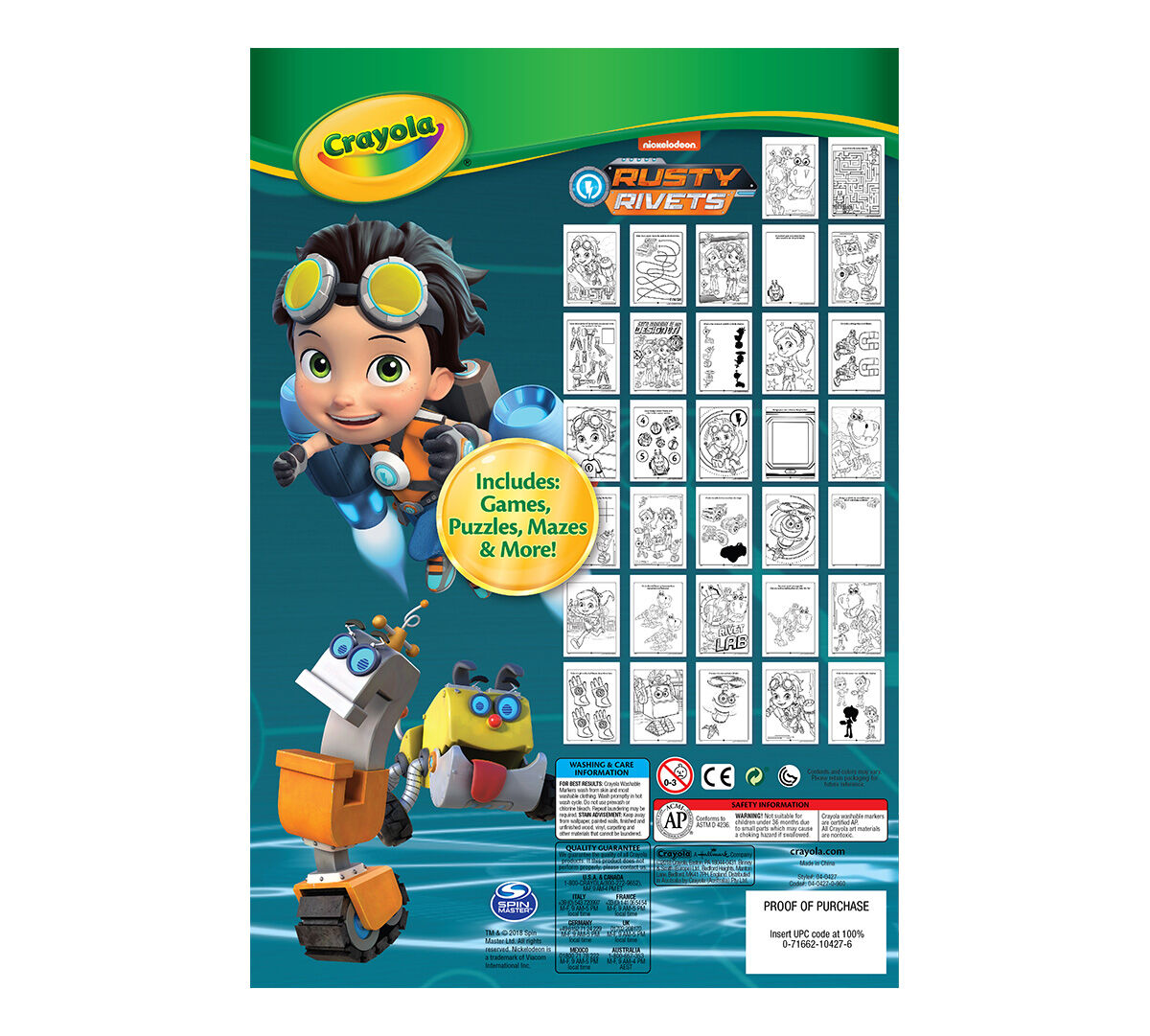 Rusty Rivets Coloring Pages: Crayola Rusty Rivets Coloring & Activity Pad, 7 Washable