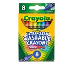 Washable Crayons 8 ct. Front View