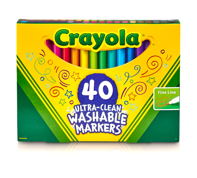 Ultra Clean Markers, Fine Line, 40 Count