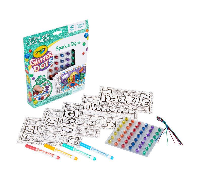 8 Gift for Kids Crayola Glitter Dots DIY Holiday Ornaments 6 Multi Glitter Craft Kit 5 7