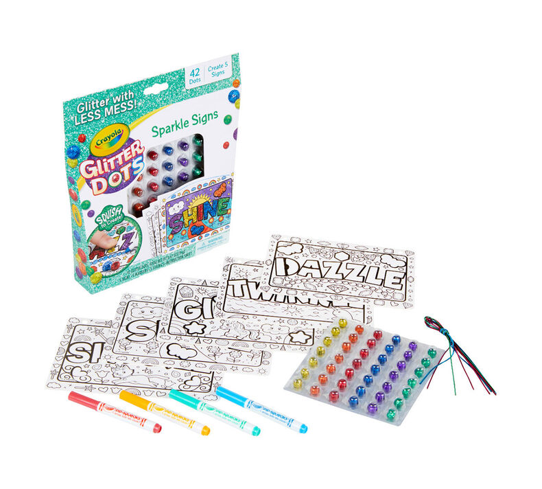 Glitter Dots 2-in-1 Craft Kit