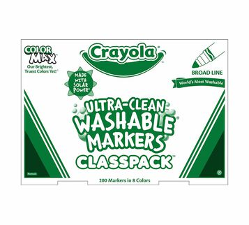 Washable Broad Line Markers Classpack, 200 Count