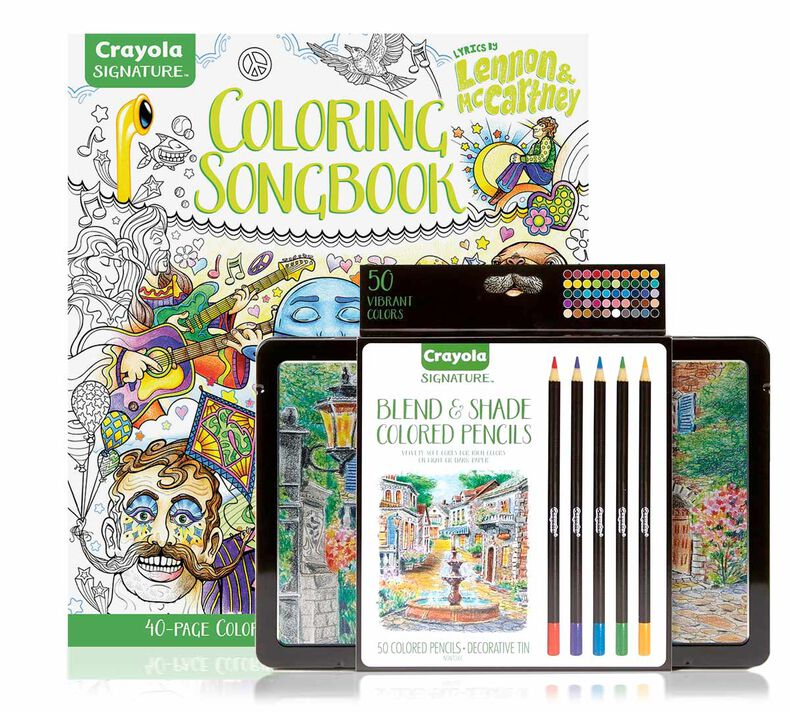 Lennon & McCartney Adult Coloring Kit, Colored Pencils Gift Set