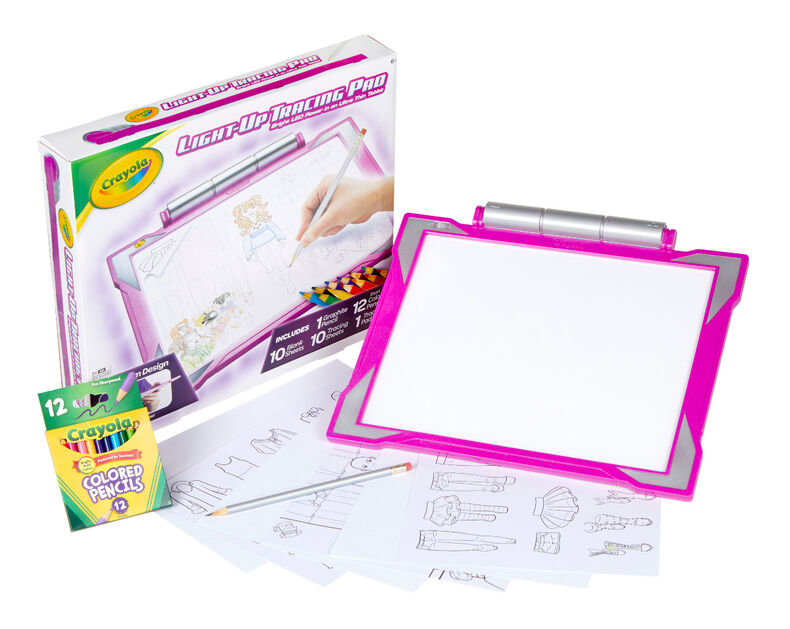 Pink Light Up Tracing Pad Gift For Girls Crayola Com Crayola