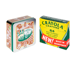 Crayola Vintage Crayon Storage Tin Front View with 64 Count
