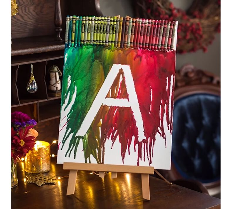 Personalized Melted Crayon Canvas Craft Kit