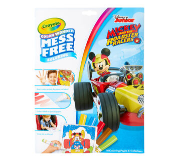 Color Wonder Mess Free Mickey Roadster Racers Coloring Pages & Markers Front View of Package