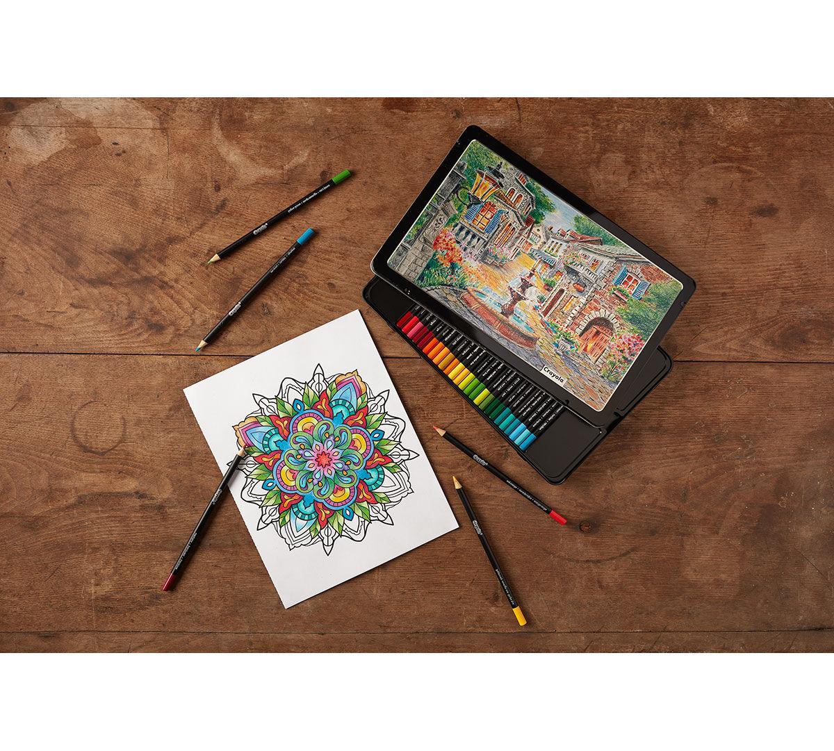Mandala Coloring Book & 50 Colored Pencils Crayola.com Crayola