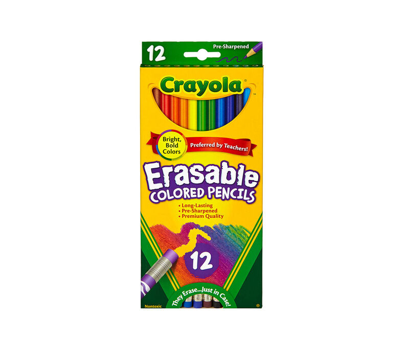 Erasable Colored Pencils, 12 Count