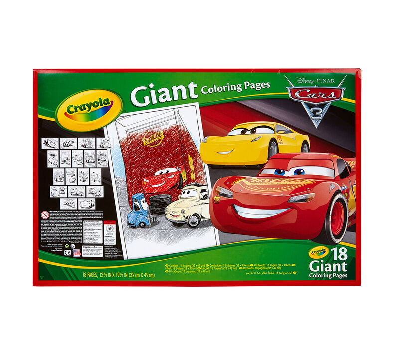 Crayola Giant Coloring Pages Cars 3 Oversized Coloring Pages Art Activity Crayola
