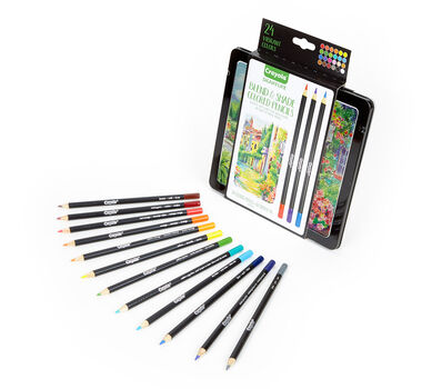 Signature Blend & Shade Colored Pencils with Tin, 24 Count