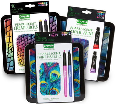 Signature Pearlescent Paints & Cream Sticks Art Set