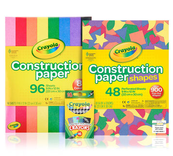 Crayon & Construction Paper Bundle Front View