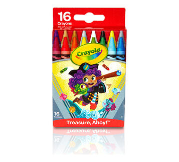 Treasure Ahoy Crayons, 16 Count Front View