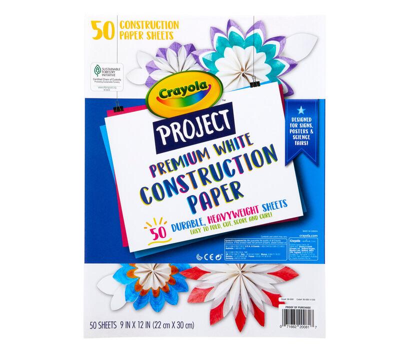 Premium White Construction Paper, 50 Sheets