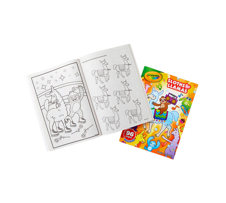 Sloths Love Llamas Coloring Book