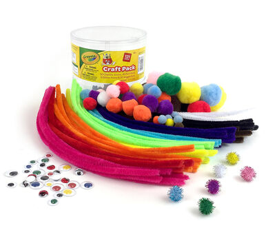 Pom Pom & Chenille Stem Craft Pack