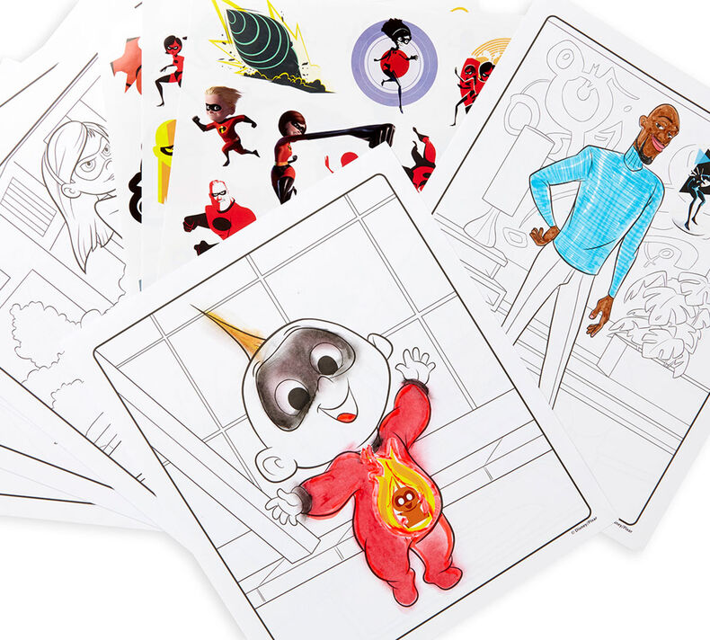 Color & Sticker Book, Incredibles 2