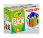 Acrylic Pumpkin Painting Set, Autumn Colors front view