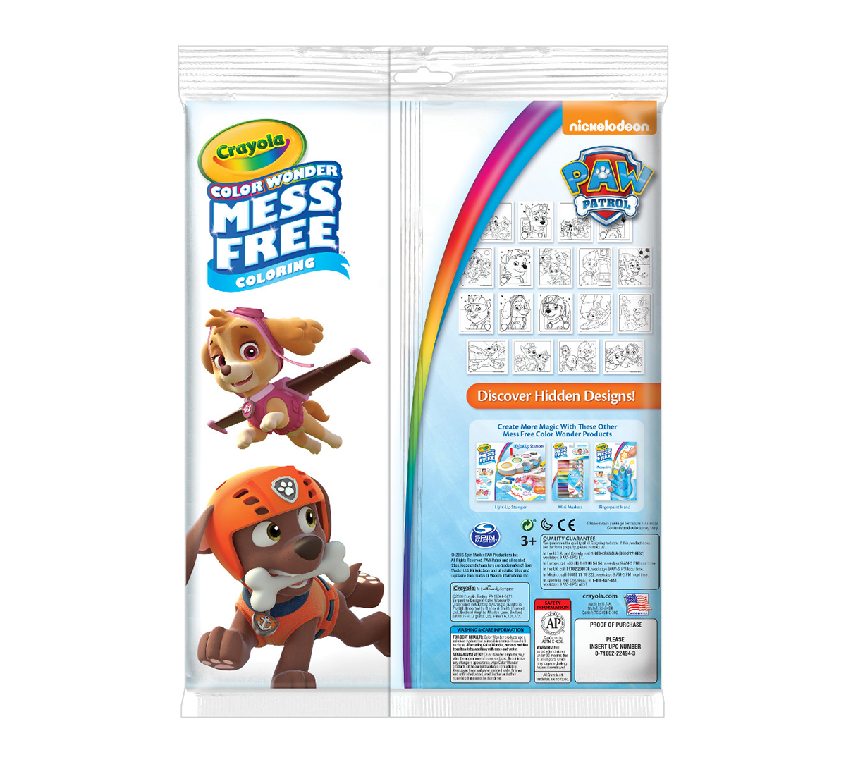 Color Wonder Coloring Pad And Markers Paw Patrol Crayola