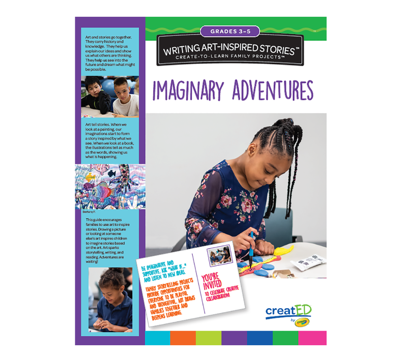 creatED® Family Engagement Kits, Writing Art-Inspired Stories: Grades 3-5: Imaginary Adventures