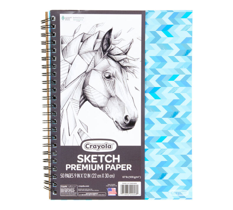 Spiral Sketch Pad, 50 Sheets